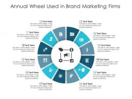 Annual Wheel Used In Brand Marketing Firms Infographic Template