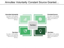 Annuities Voluntarily Constant Source Granted Continue Mistreated Criticisms