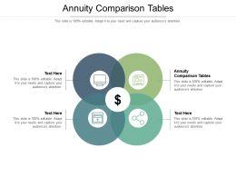 Annuity Comparison Tables Ppt Powerpoint Presentation Portfolio Professional Cpb
