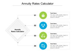 Annuity Rates Calculator Ppt Powerpoint Presentation Model Topics Cpb