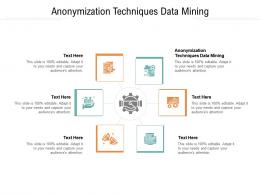 Anonymization Techniques Data Mining Ppt Powerpoint Presentation Visual Aids Gallery Cpb