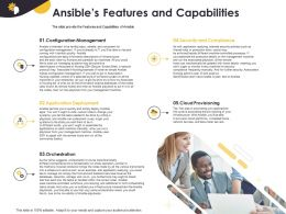 Ansibles Features And Capabilities Configuration Management Ppt Powerpoint Samples