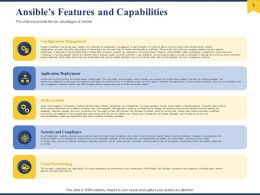 Ansibles Features And Capabilities Ppt Powerpoint Presentation Outline Good