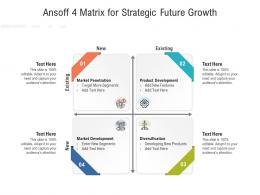 Ansoff 4 Matrix For Strategic Future Growth