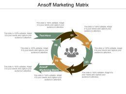 Ansoff Marketing Matrix Ppt Powerpoint Presentation Layouts Files Cpb