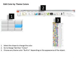79638786 Style Hierarchy Matrix 1 Piece Powerpoint Template Diagram Graphic Slide
