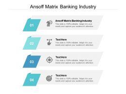 Ansoff Matrix Banking Industry Ppt Powerpoint Presentation Icon Design Inspiration Cpb