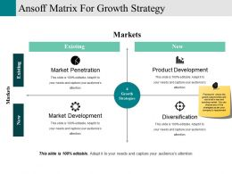 Ansoff Matrix For Growth Strategy Ppt Design