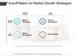 Ansoff Matrix For Market Growth Strategies