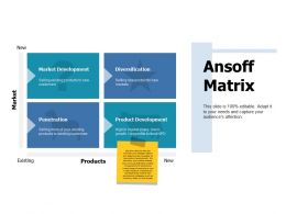 Ansoff Matrix Market Development Ppt Portfolio Slide Portrait