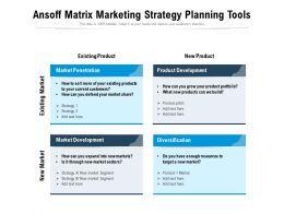 Ansoff Matrix Marketing Strategy Planning Tools