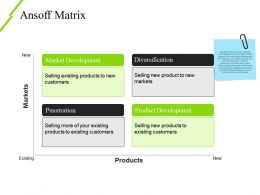 Ansoff Matrix Powerpoint Ideas Template 2
