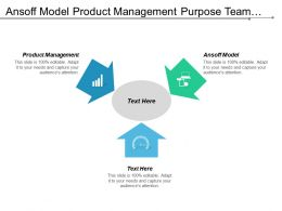Ansoff Model Product Management Purpose Team Meeting Company Teambuilding Cpb