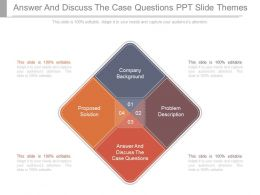 Answer And Discuss The Case Questions Ppt Slide Themes