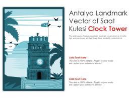 Antalya Landmark Vector Of Saat Kulesi Clock Tower Powerpoint Presentation PPT Template