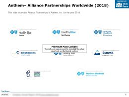 Anthem Alliance Partnerships Worldwide 2018