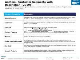 Anthem Customer Segments With Description 2019