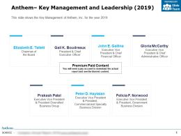 Anthem Key Management And Leadership 2019