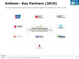 Anthem Key Partners 2019