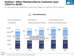Anthem Other Membership By Customer Type 2014-2018
