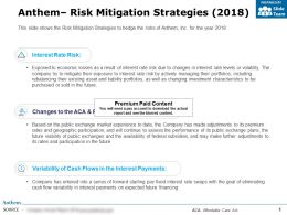 Anthem Risk Mitigation Strategies 2018