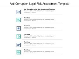 Anti Corruption Legal Risk Assessment Template Ppt Powerpoint Outline Cpb