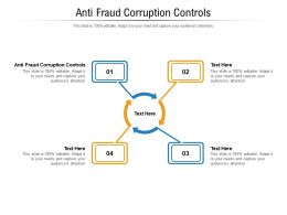 Anti Fraud Corruption Controls Ppt Powerpoint Presentation Show Example File Cpb