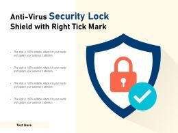 Anti Virus Security Lock Shield With Right Tick Mark