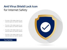 Anti Virus Shield Lock Icon For Internet Safety