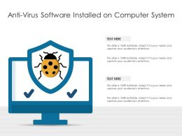 Anti Virus Software Installed On Computer System