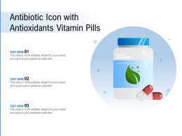 Antibiotic Icon With Antioxidants Vitamin Pills