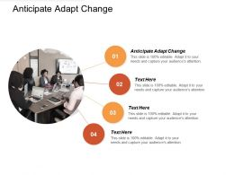 Anticipate Adapt Change Ppt Powerpoint Presentation File Designs Cpb