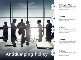 Antidumping Policy Ppt Powerpoint Presentation Visual Aids Infographics Cpb