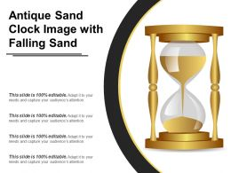 Antique Sand Clock Image With Falling Sand
