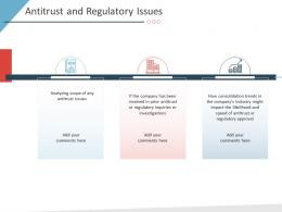 Antitrust And Regulatory Issues Business Purchase Due Diligence Ppt Infographics