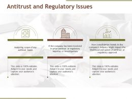 Antitrust And Regulatory Issues Powerpoint Shapes
