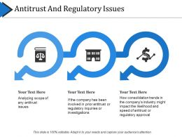 Antitrust And Regulatory Issues Powerpoint Slide Background