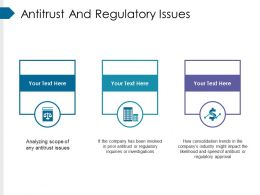 Antitrust And Regulatory Issues Powerpoint Slide Backgrounds