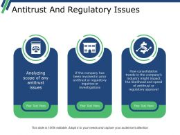 Antitrust And Regulatory Issues Powerpoint Slide Graphics