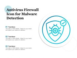 Antivirus Firewall Icon For Malware Detection