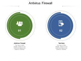 Antivirus Firewall Ppt Powerpoint Presentation Outline Icon Cpb