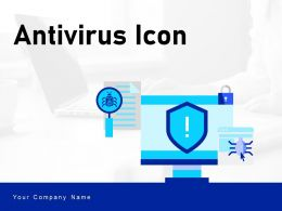 Antivirus Icon Exclamation Protection Computer Monitor