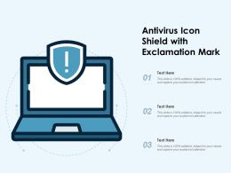 Antivirus Icon Shield With Exclamation Mark