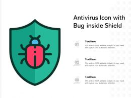 Antivirus Icon With Bug Inside Shield