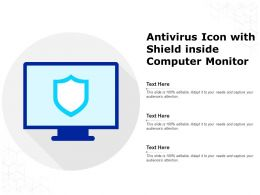 Antivirus Icon With Shield Inside Computer Monitor