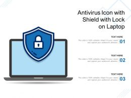 Antivirus Icon With Shield With Lock On Laptop
