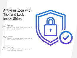 Antivirus Icon With Tick And Lock Inside Shield