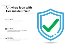 Antivirus Icon With Tick Inside Shield