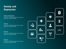 Anxiety And Depression Ppt Powerpoint Presentation Professional Background Images