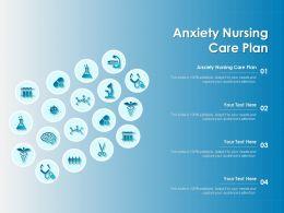 Anxiety Nursing Care Plan Ppt Powerpoint Presentation Icon Files